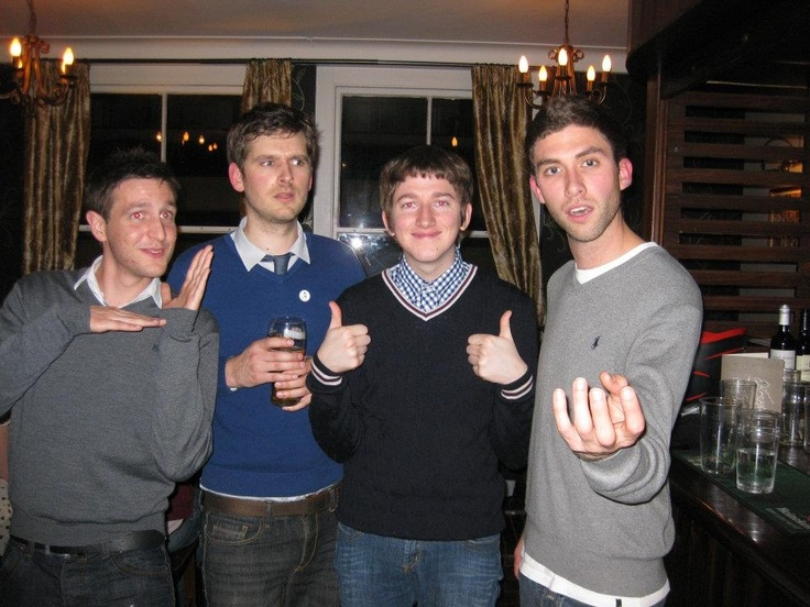 Your Uni pals, Sean, George and Pete