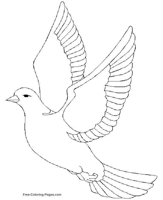 free printout for a dove pattern