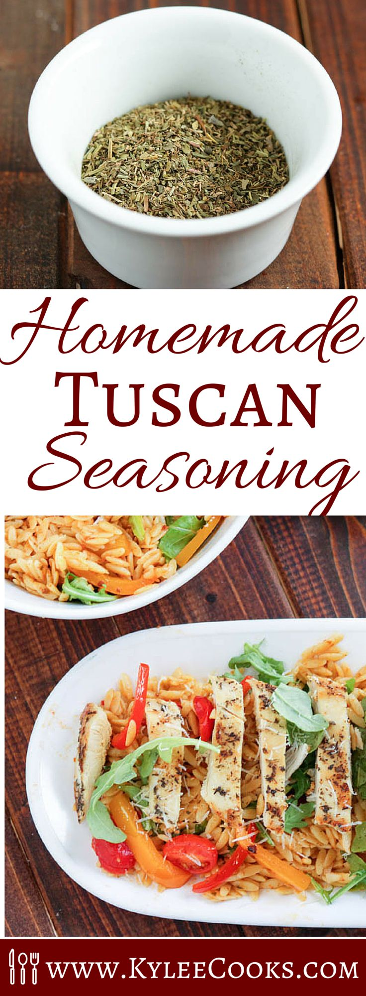 Have a recipe that calls for Tuscan Seasoning, and can't find it in the store, or don't know what it is? I got you covered. Make your own using this easy recipe.