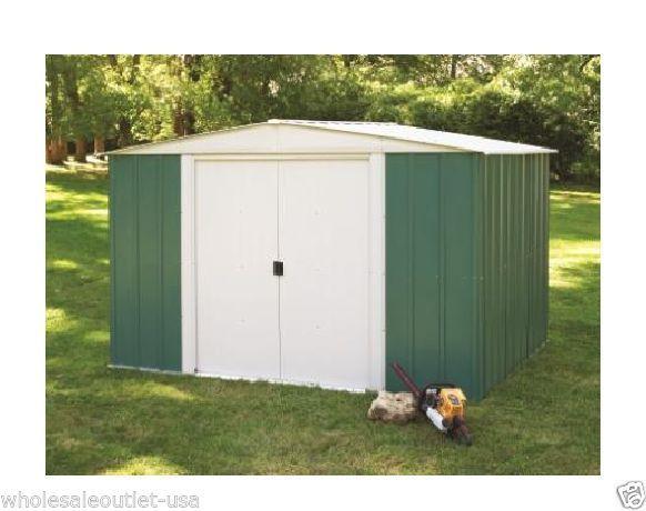Arrow Metal Sheds 10 X 8 Backyard Garden Shed Kit Outdoor Medium Yard  Storage