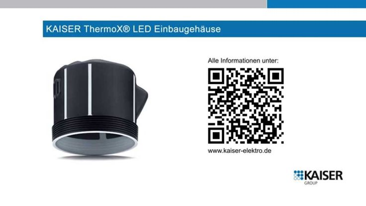 KAISER ThermoX® LED-Einbaugehäuse - Kurzversion