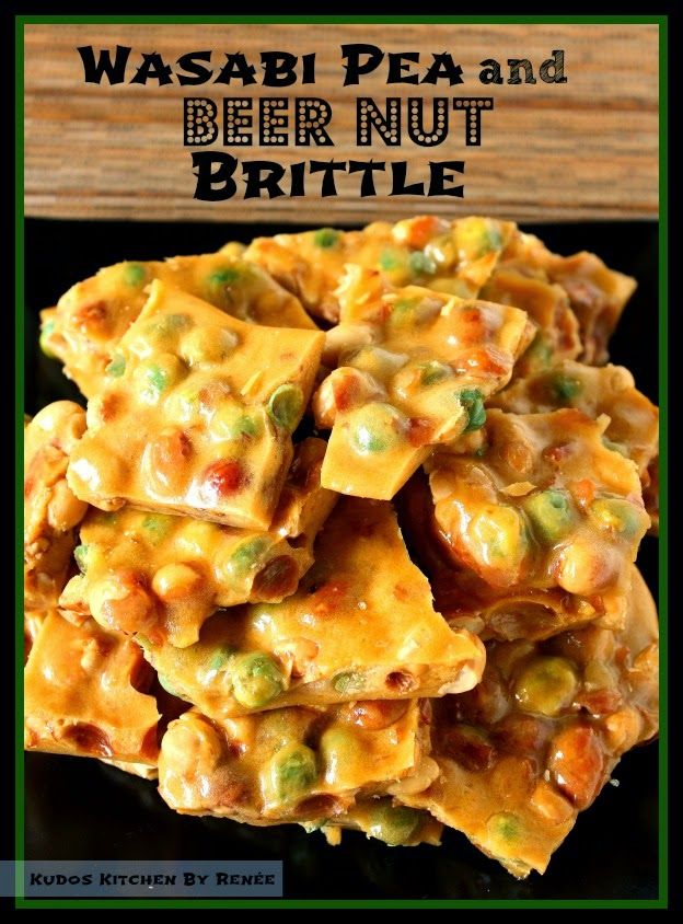 Wasabi Pea and Beer Nut Brittle