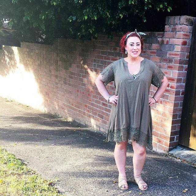 Wearing Bohemian Traders Dreamer dress