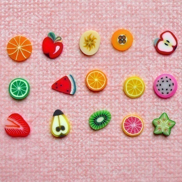 Polymer Clay Cane Fruit Assorted Polymer Clay by MiniatureSweet