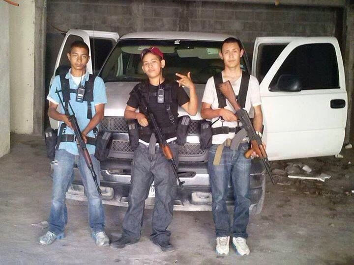 Young members of the Gulf Cartel