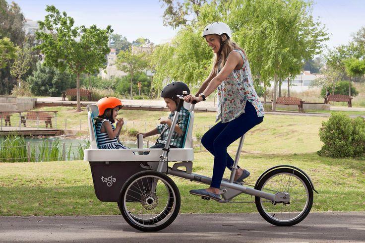 TAGA FAMILY BIKE: Configurazione per trasportare 2 bambini
