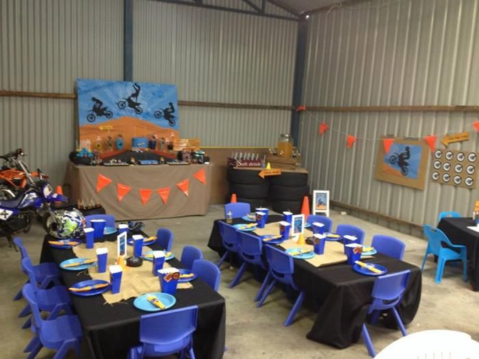 Dirt Bike Themed Birthday Party | Kara'sPartyIdeas.com - Pin the Tire game my fave part