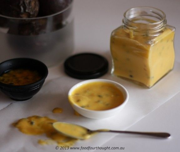 Passionfruit Curd, thermo. Food 4 thought