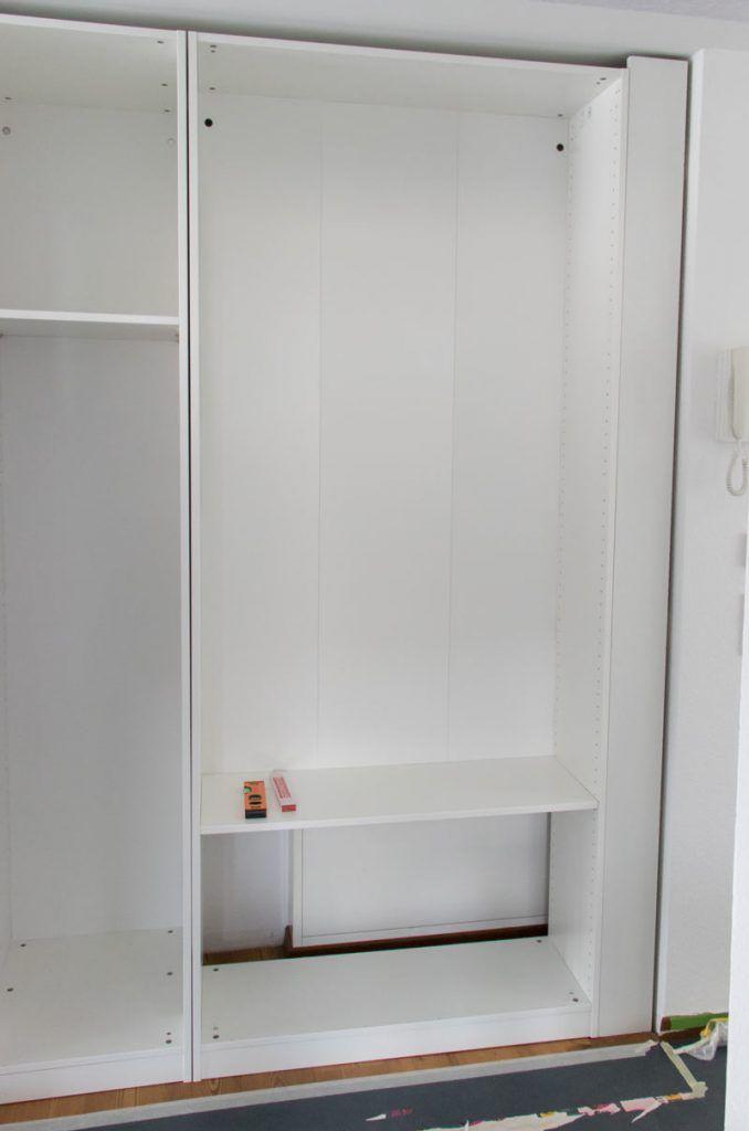 Pax Als Einbauschrank So Einfach Baut Ihr Ikea Pax Als Flurschrank Ein In 2020 Einbauschrank Einbauschrank Ikea Flurschrank