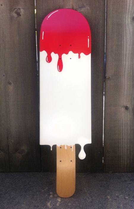 skate deck ice cream timothy goodman x luke bartels for collective goods recent exhibition plywood for good great idea would make a fun schlongboard - Skateboard Design Ideas