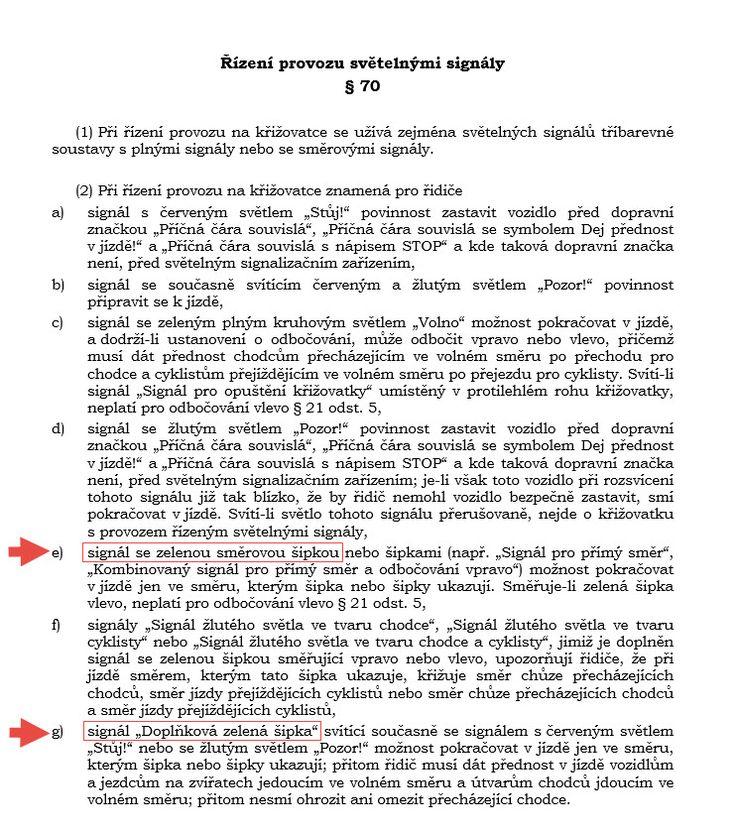 Pravidla silničního provozu dle zákona č.361_2000 Sb.