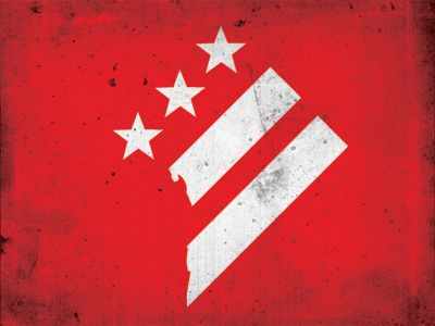 I love my city. My fusion of the DC Diamond and the DC Flag  http://dribbble.com/shots/897355-District-of-Columbia