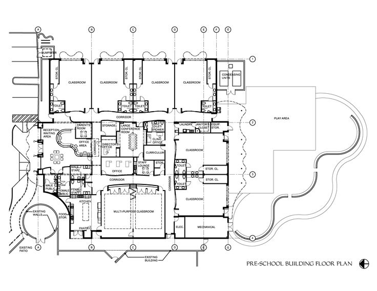 Floor Plan for the Ophelia Brown Lawson Head Start