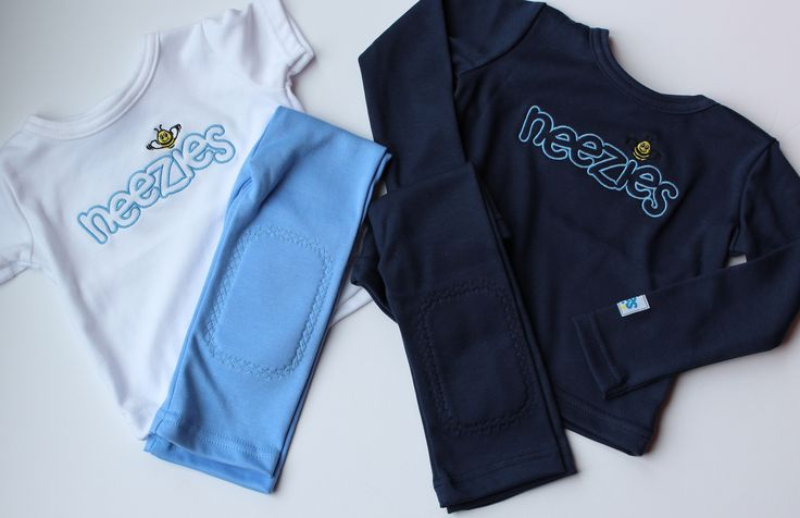 Baby blues!  Neezies comfy outfits and pants have padded knees for crawling! www.neezies.com