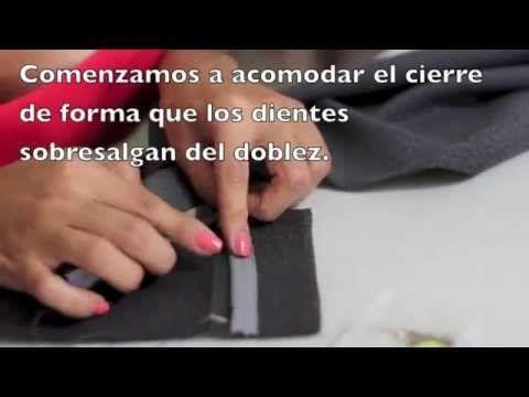 Como coser un cierre para pantalón ó short - YouTube