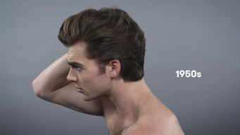 Men's Hairstyle: 1950's style. Elvis Presley.