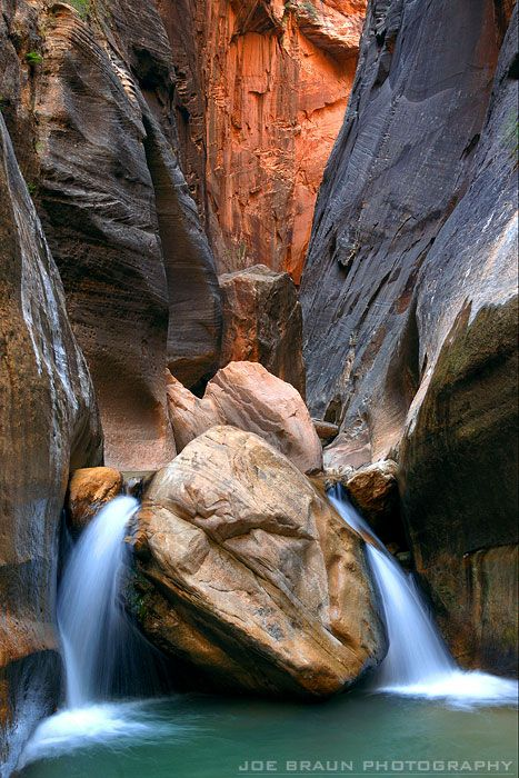Orderville Canyon, Zion National Park; photo by Joe Braun
