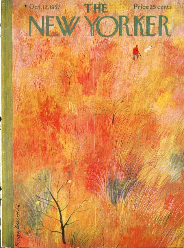 roger duvoisin, october 12, 1957 new yorker cover