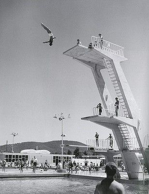 Vintage Canberra: Diving at Olympic pool in Civic.