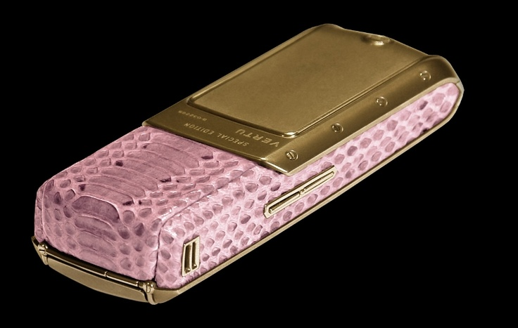 Vertu Ascent Python Gold Platinum Exotic Leather - Pink Skin. Vertu Ascent in skin of a python also can be trimmed by other types of exotic skin and decorated with gold and diamonds.  http://exclusive-mj.com/en/