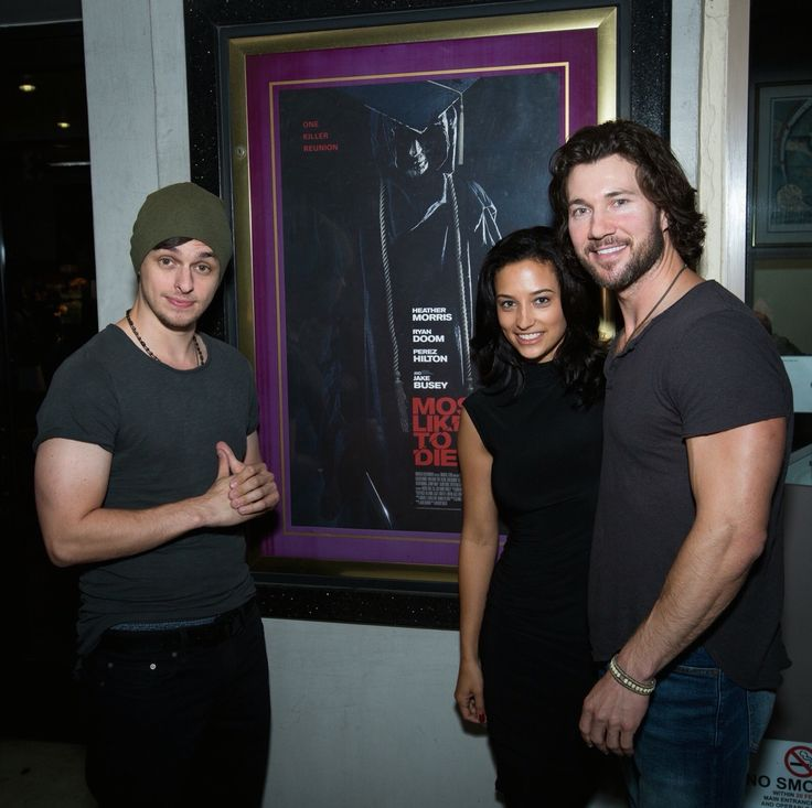 Actors Chad Addison, Tatum Miranda and Jason Tobias on the opening night of Anthony Diblasi's slasher film Most Likely to Die