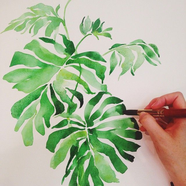 25 best ideas about watercolor leaves on pinterest leaf for Watercolor greenery