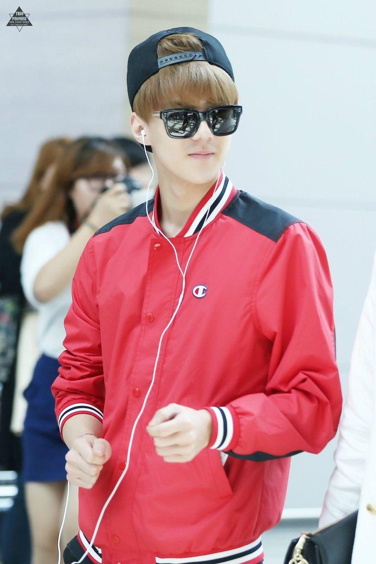 140808- EXO Oh Sehun at Incheon Airport to Tianjin Airport #exok #men #fashion #style #korean