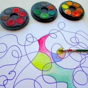Arty Crafty Дети - Искусство - Watercolour Искусство для детей