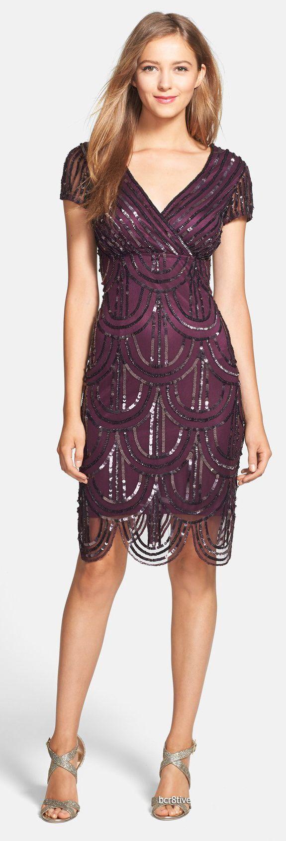 Marina Sequin Surplice Sheath Dress | Nordstrom