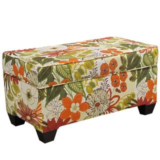 Linen Upholstered Storage Bench   Teal 18 Inches Long X 36 Inches Wide X 18  Inches