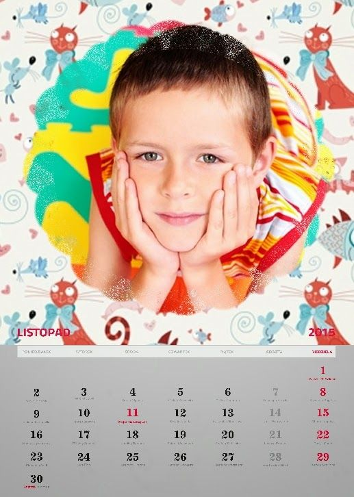 Fotokalendarz projekt izziBook.pl - szablon fotokalendarza dla dziecka