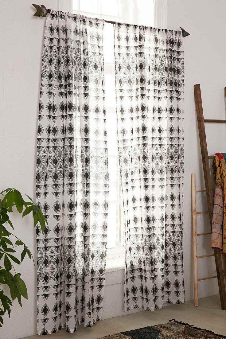die 25+ besten ideen zu gardinen schwarz weiß auf pinterest ... - Wunderschone Gasteschlafzimmer Design Ideen