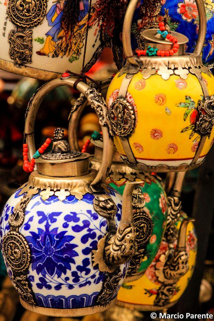 Teapots in Llasa, Tibet, China