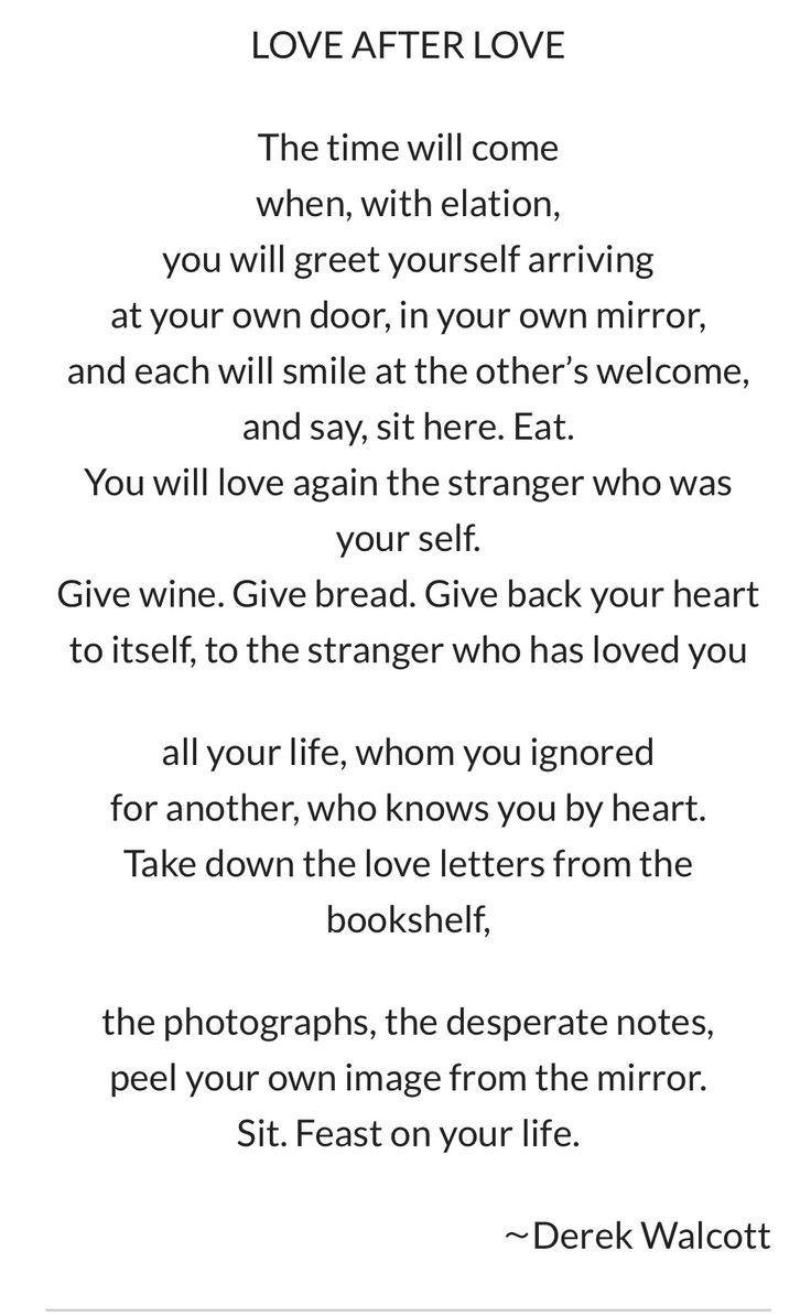 Love after Love Poem by Derek Walcott