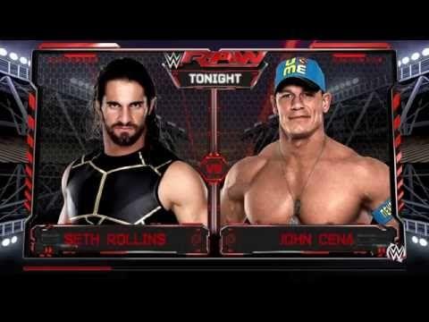 WWE 2K16: Seth Rollins vs. John Cena (WWE Raw June 27, 2016)
