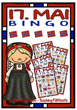 Vi gjr oss klare for 17. mai med morsomme bingo-spill! Bingo-spillene inneholder samme bildeordene som det jobbes med i 17. mai pakken Hva vet vi om 17.mai?Denne pakken inneholder 2 forskjellige bingo-spill, med 5 brett til hvert av dem;1) 4x4 brett, med ett sett brikker. $3.00