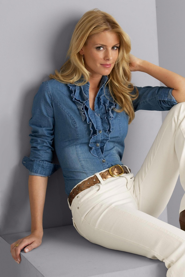 Metro Blues ruffled chambray shirt from Metro Style