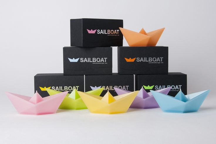 Floating candle Sailboat - colour  collection