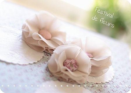fleurs en tissu