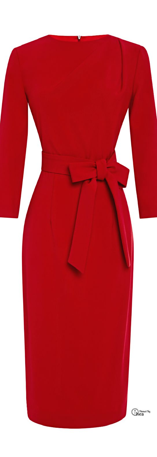 A La Russe ● FW 2014, Pencil Dress With Pleats I am a sucker for red. I love the lines on this one and especially the belt that adds a very elegant look to a simple dress. LOVE IT!