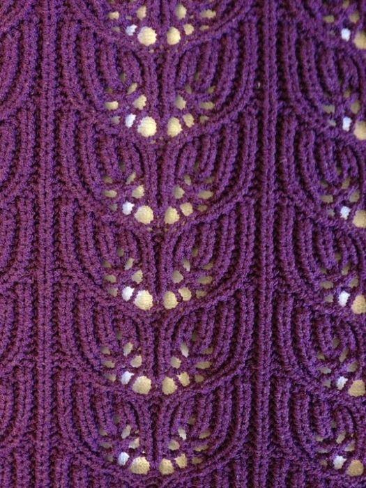 Knitting Stitch K5b : Delikli orgu Modelleri