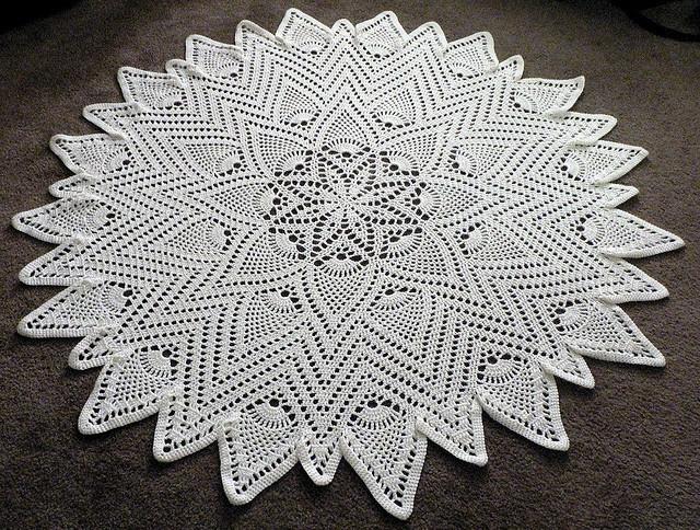 #crochet doily - free patternCrochet Knits Doilies, Crochet Pattern Free, Doilies To Crochet, Crochet Free Pattern, Pineapple Doilies, 1951, Things To Crochet, Beautiful Doilies, Crochet Doilies Pattern
