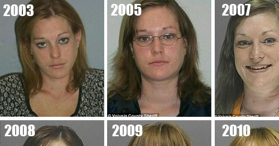 This #woman was arrested for the first time in 2003 and her latest was in 2013. Her transformation is truly #shocking.