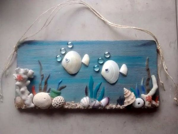 45 Inspirational Sea Shell Craft DIY-Ideen