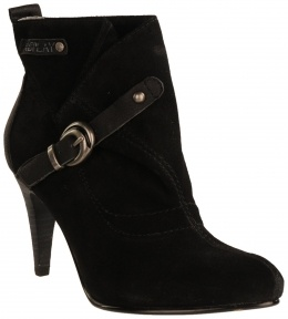 High heeled black suede boots. A classic! By Replay
