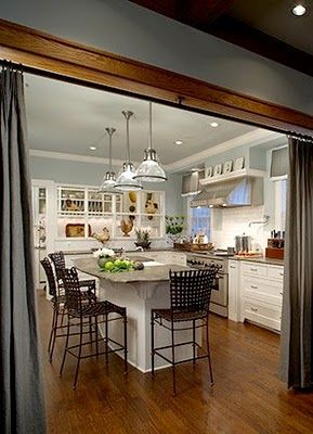 Curtain divider for the kitchen... Great for having ...