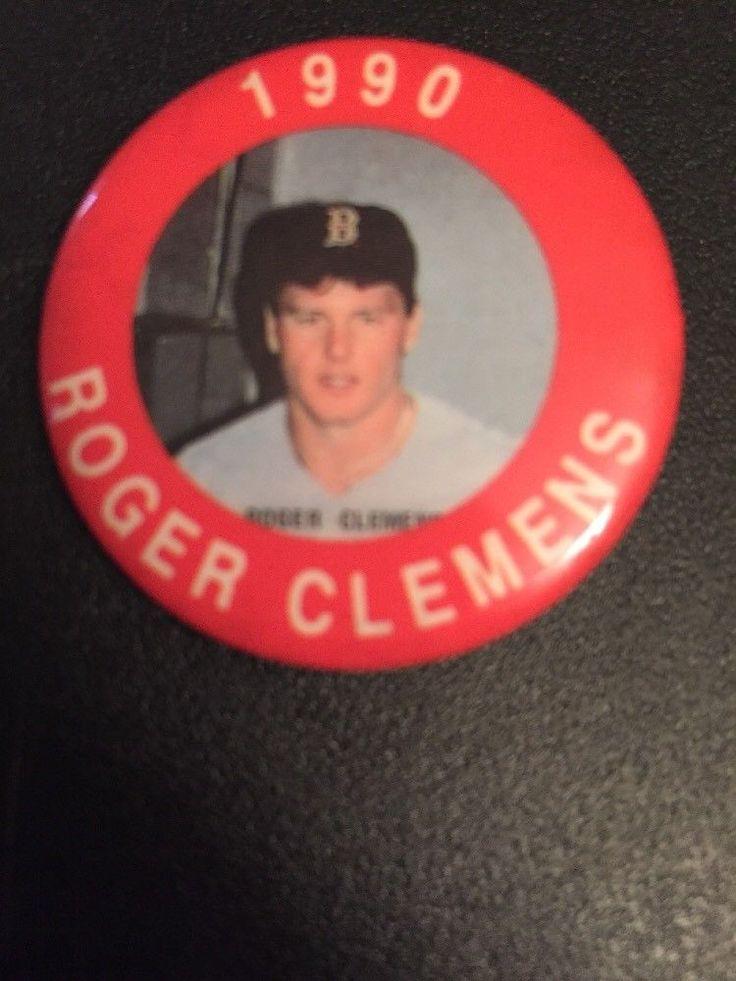 MLB 1990 MLBPA Photo Button Pin - Boston Red Sox - Roger Clemens
