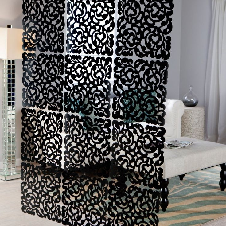 Interior Ideas, Hanging Room Dividers Ideas To Make Over Your Lovely Home  Decorative Panel Black