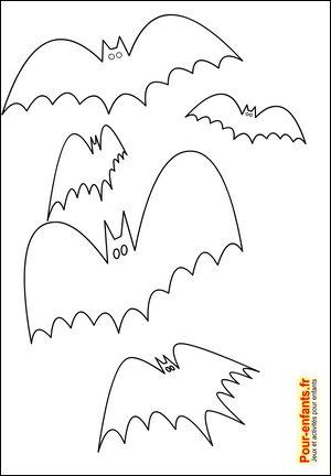 silhouette chauve souris halloween forme chauve souris halloween pochoir chauve souris halloween. Black Bedroom Furniture Sets. Home Design Ideas