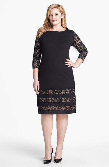ABS by Allen Schwartz Lace Detail Sheath Dress (Plus Size) available at #Nordstrom
